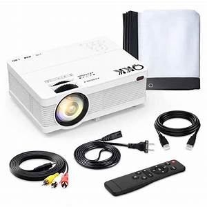 Qkk Mini Projector 4500 Lumens Portable Lcd Projector