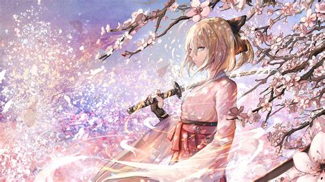anime girls artwork sakura saber wallpapers hd desktop