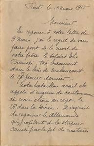 Lettre Deces : autre lettre d 39 annonce d 39 un dcs soldat bianchi expositions virtuelles historiques des ~ Gottalentnigeria.com Avis de Voitures