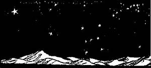 Night Sky Black And White Clipart - Free Clip Art Images ...