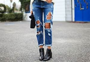 Ripped Boyfriend Jeans (A Major Essential) - Sazan