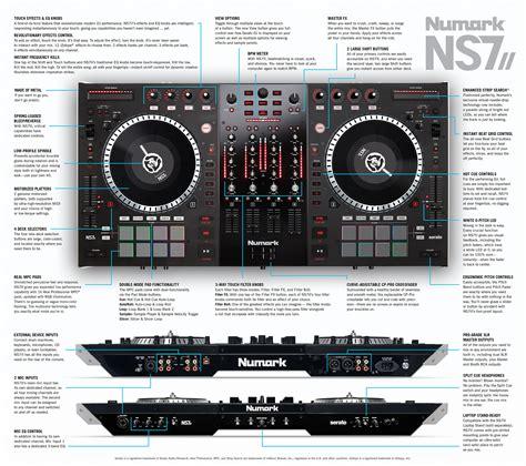 numark dj console ns7ii 4 channel motorized dj controller and mixer numark
