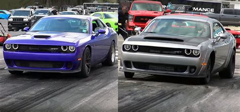 The answer is both yes and no. Demon vs Hellcat -1/4 Mile Drag Race !!! | Cool sports cars, Dodge challenger hellcat, Pony car