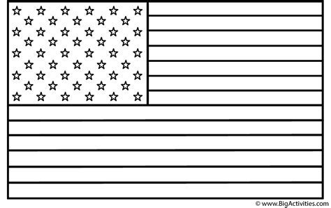 american flag coloring page independence day