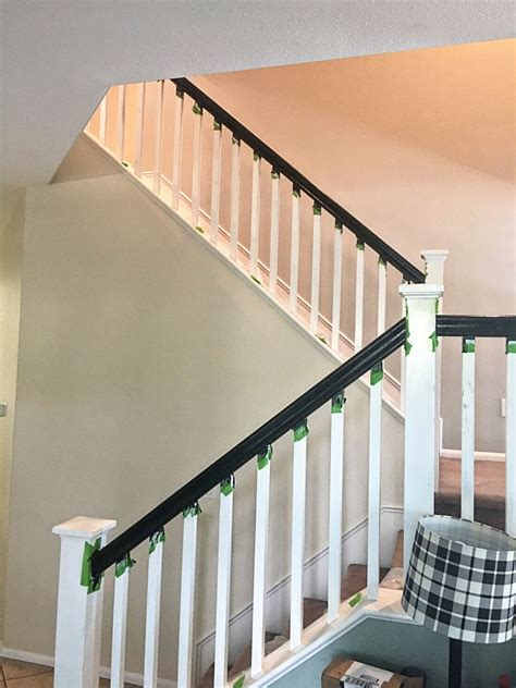 new banisters how to paint your stair railing and banister black