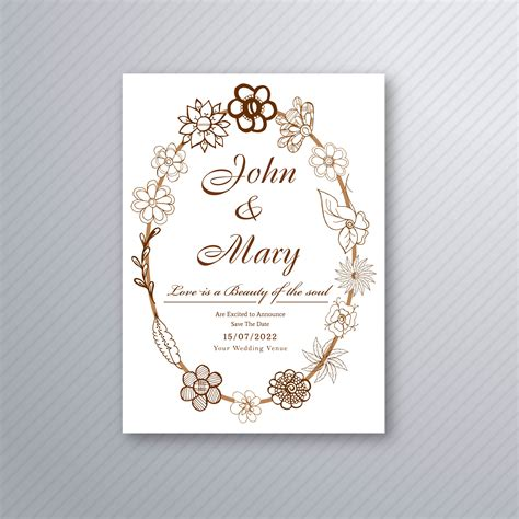beautiful wedding invitation stylish background vector