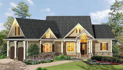 plan ge gabled  bedroom ranch home plan ranch house plans craftsman house plans house