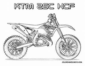 motocross coloriages des transports With honda 125 dirt bike
