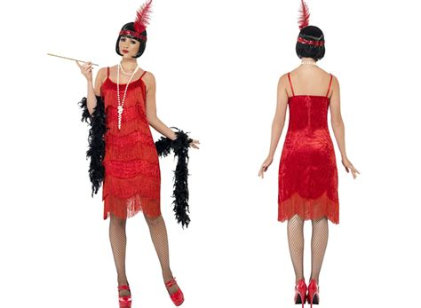 Womens New Sexy Red Flapper Shimmy Vintage 20s Style Fancy