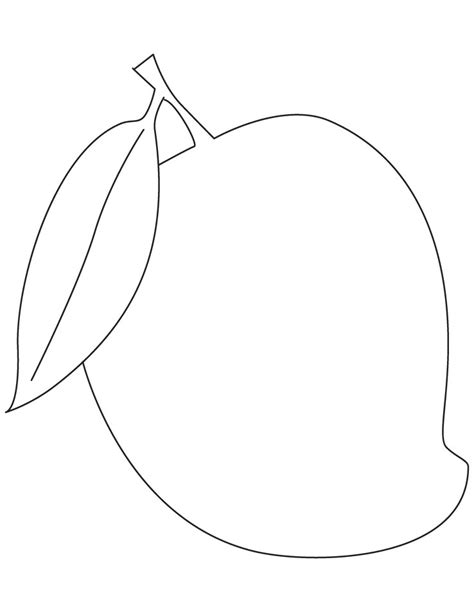 Coloring Mango by Mango Fruit Coloring Pages Free Mango Fruit