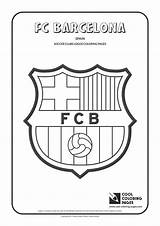 Coloring Soccer Pages Barcelona Cool Fc Logos Football Clubs Barca Team Bookmarks Colouring Teams Sheets Printable Others Club Symbol Cakes sketch template