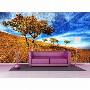 Papier Peint Geant : papier peint g ant d co champ arbre 250x360cm art d co ~ Premium-room.com Idées de Décoration