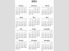 4 Best Images of 2023 Calendar Printable Free 2023