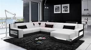 Canape Design Pas Cher : photos canap design pas cher noir et blanc ~ Melissatoandfro.com Idées de Décoration