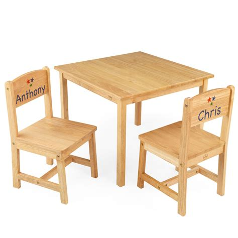 aspen table and two chair set by kidkraft