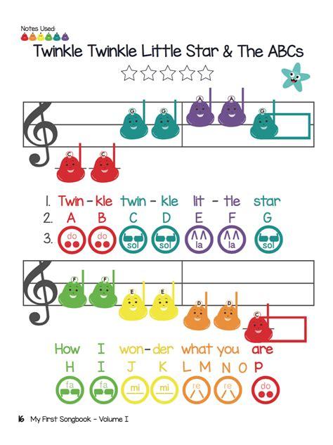 twinkle twinkle lesson colorful sheet 158   a46c2feb534cab43d98fc37f55d75311