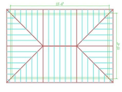 Hip Roof Plans by Hip Roof Calculator Roof Framing Hip Roof Design In