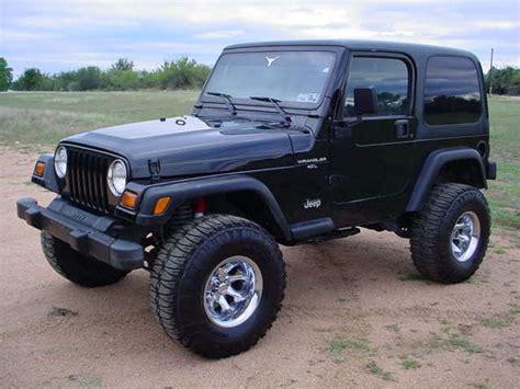 huge jeep wrangler jeep wrangler simple and nice black paint lifted big