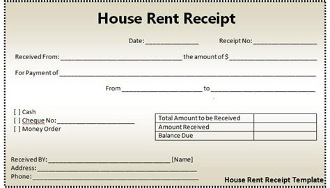 Rent Receipt Template Producing Rent Receipts Wont Help Anymore For Income