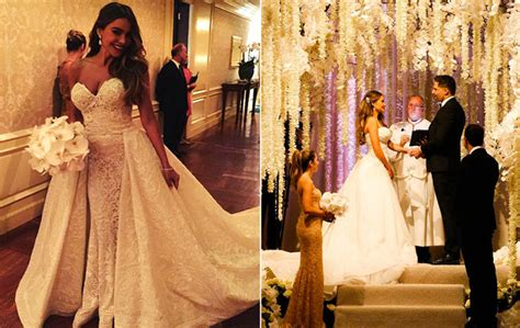 sofia vergara wedding sofia vergara wedding dress zuhair murad 2015