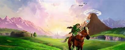 Zelda Dual Screen Legend Monitor Wallpapers Backgrounds