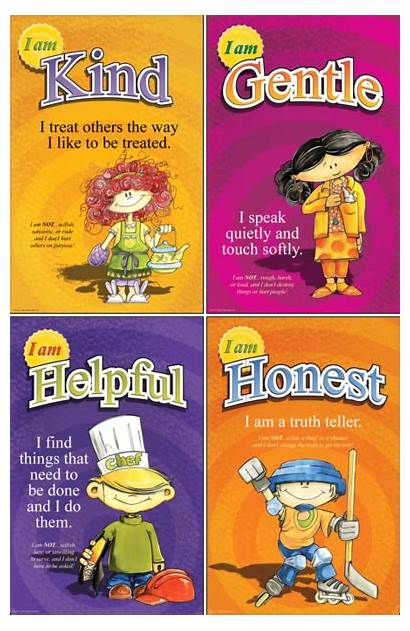 Virtues Posters Mini Choose Character Poster Teaching