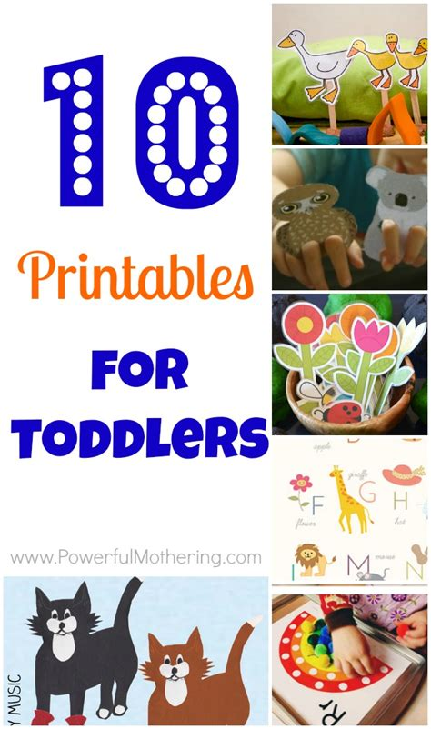 printables  toddlers