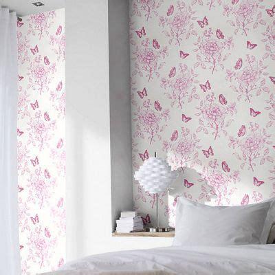 Tapisserie Violette by Papier Peint Vinyle Sur Papier Fleurs Sweety Violet Mat