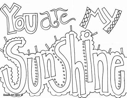 Coloring Doodle Quote Kindness Alley Sunshine