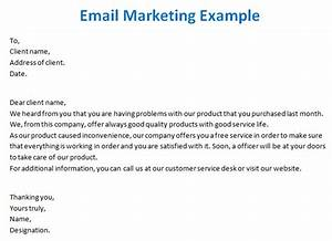 email marketing templates With example of email marketing letter