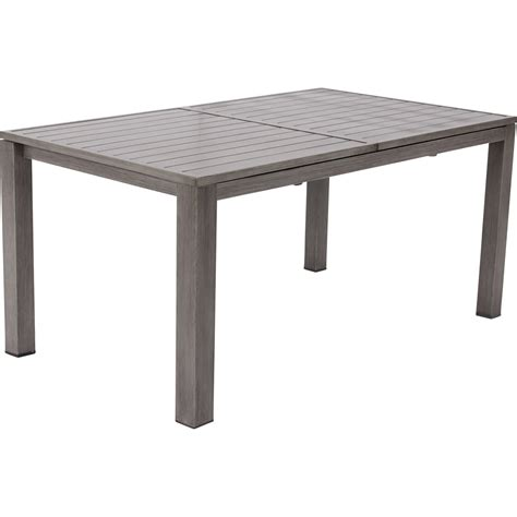 table de jardin intermarche table de jardin naterial antibes rectangulaire gris look bois 6 8 personnes leroy merlin