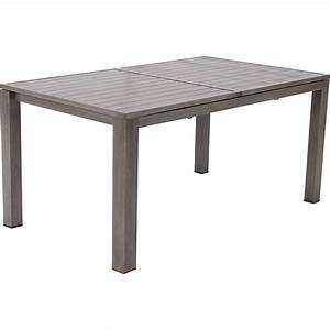 table de jardin naterial antibes rectangulaire gris look With table de jardin aluminium leroy merlin 3 table de jardin rectangulaire en bois
