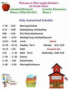 Elementary Schedule | Calendar Template 2016