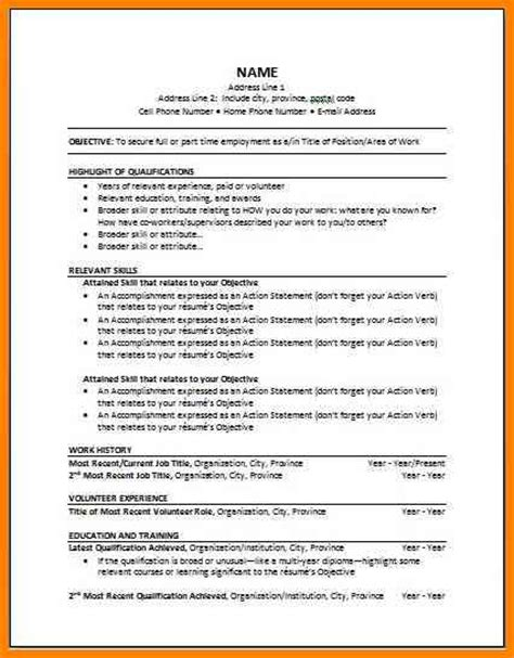 9 canadian resume template cashier resumes
