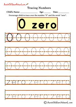 tracing numbers 0 zero maths made number