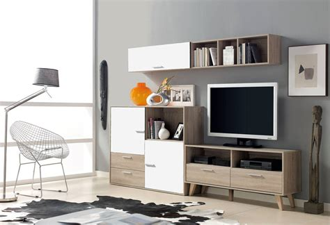 modular salon robleblanco saloncomedor moderno