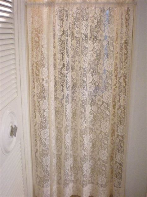 Curtain Panel Set set of 2 large lace curtain panels victorian drapes