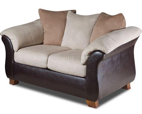 Loveseat Combo combo microfiber sofa loveseat set w bonded leather