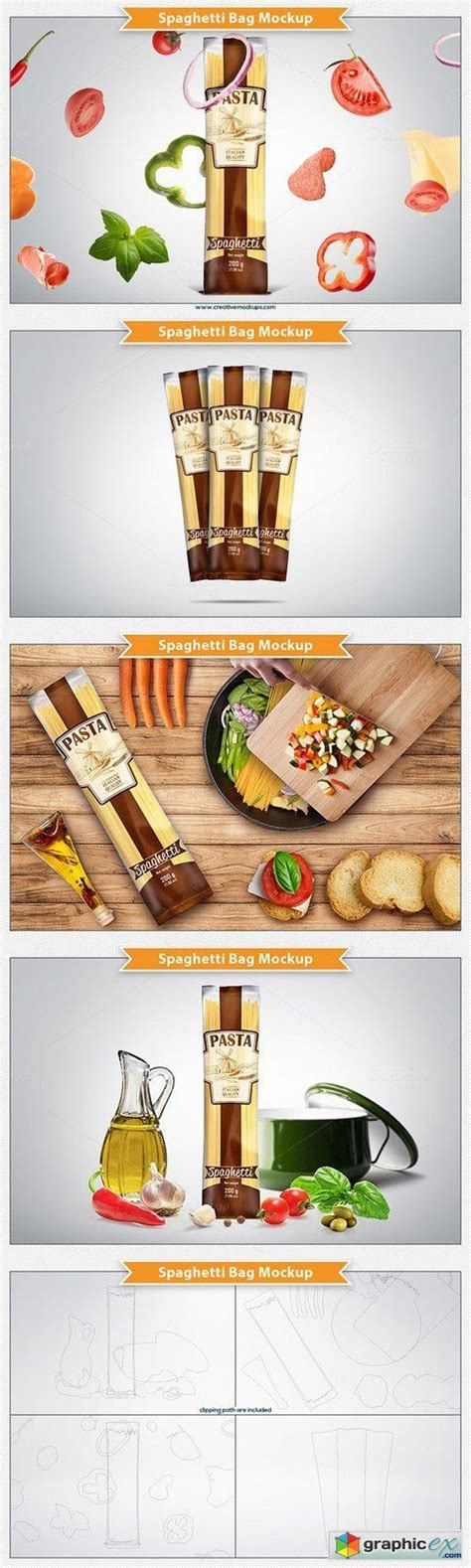 You found 74 pasta mockup graphics, designs & templates from $4. Spaghetti Bag Package Mockup | Bag packaging, Mockup ...