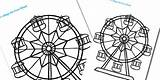 Wheel Ferris Coloring Template Colouring Designlooter 315px 82kb Seaside sketch template