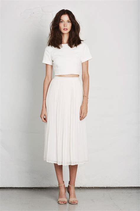Dustjacket attic Fashion Design | Joie Lookbook Spring 2014 - fresh white long skirt and crop ...