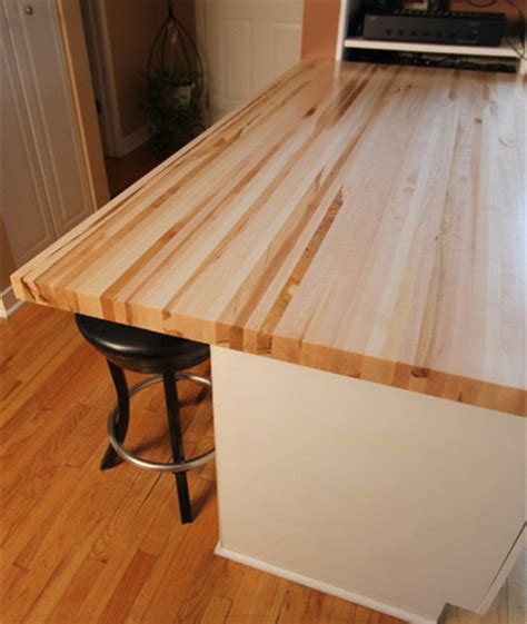Maple Butcher Block Counter Tops Full Length Rails Edge