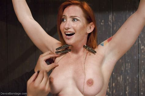 Redhead Girl Sophia Locke Taking Electroshock And Nipple