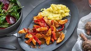 hähnchen paprika pfanne mit topinambur püree maggi de