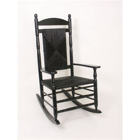 Shop Hinkle Chair Company Black Outdoor Rocking Chair At