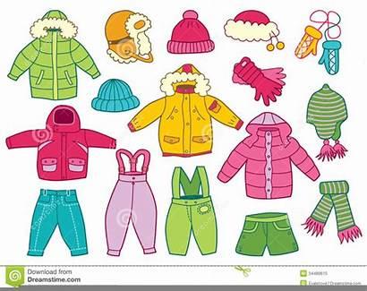 Clipart Clothes Winter Children Clip Clker Cliparts