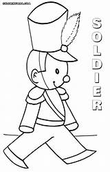 Soldier Coloring Pages Toy Colorings sketch template