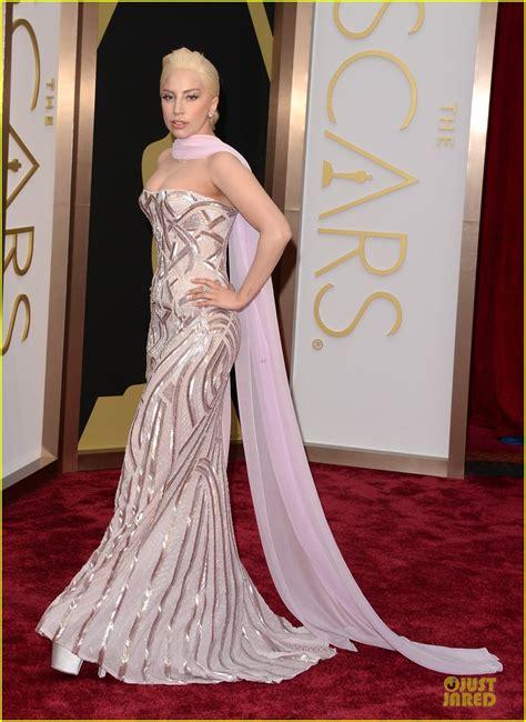 Lady Gaga Metallic Goddess Oscars Red Carpet