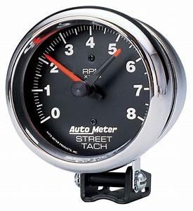Autometer Tachometer  3 4 U0026quot  Street Chrome Fits 1964