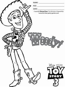Toy Story Coloring Pages Woody Tipping His Cowboy H On Toy ...